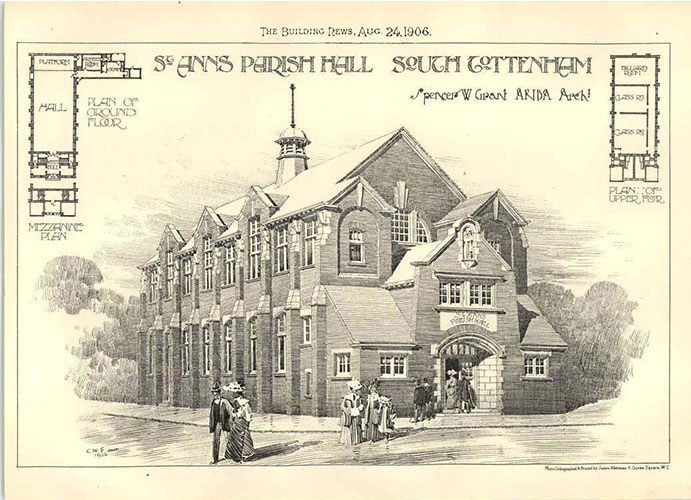 st-anns-parish-hall-south-tottenham-building-artwork-plans